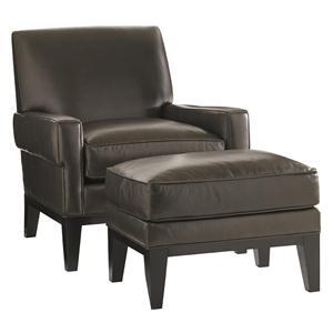 Lexington Carrera Giovanni Chair and Ottoman Set