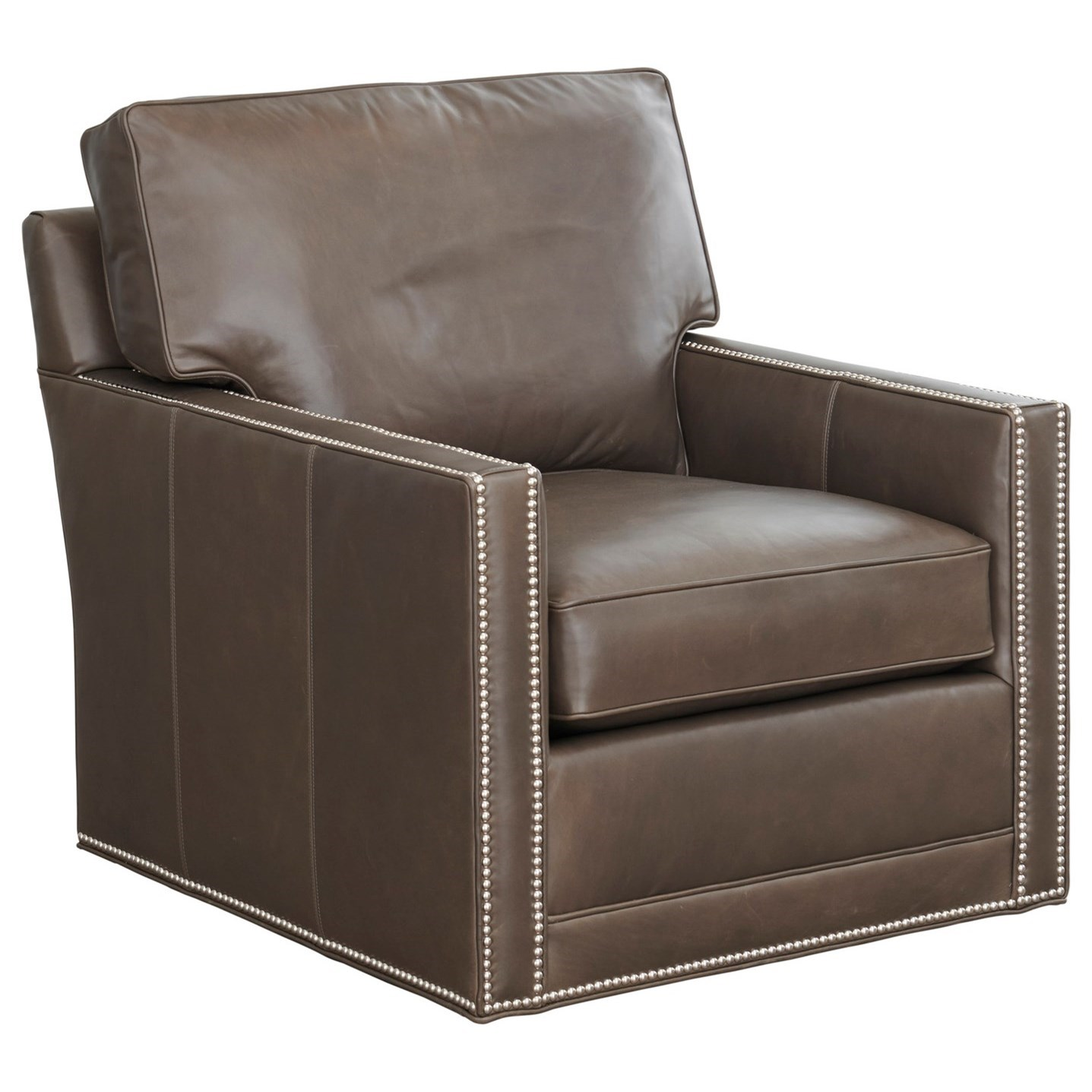 Couture Leather Brayden Customizable Swivel Chair by Lexington at Baer's Furniture