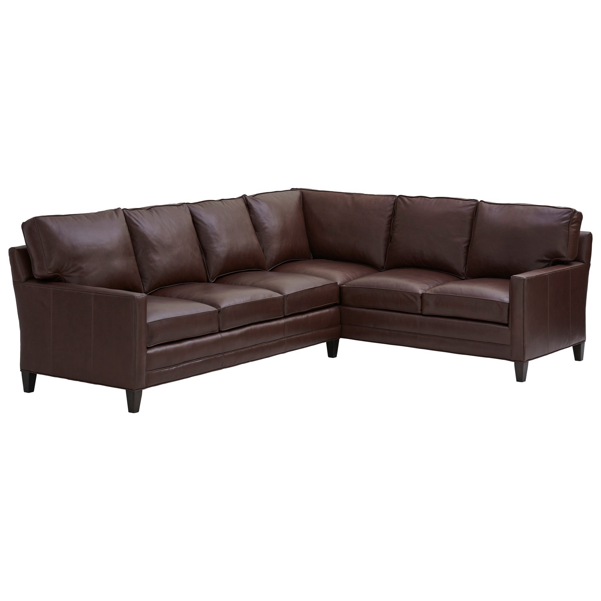 Couture Leather Brayden Customizable 5-Seat Sectional Sofa by Lexington at Johnny Janosik