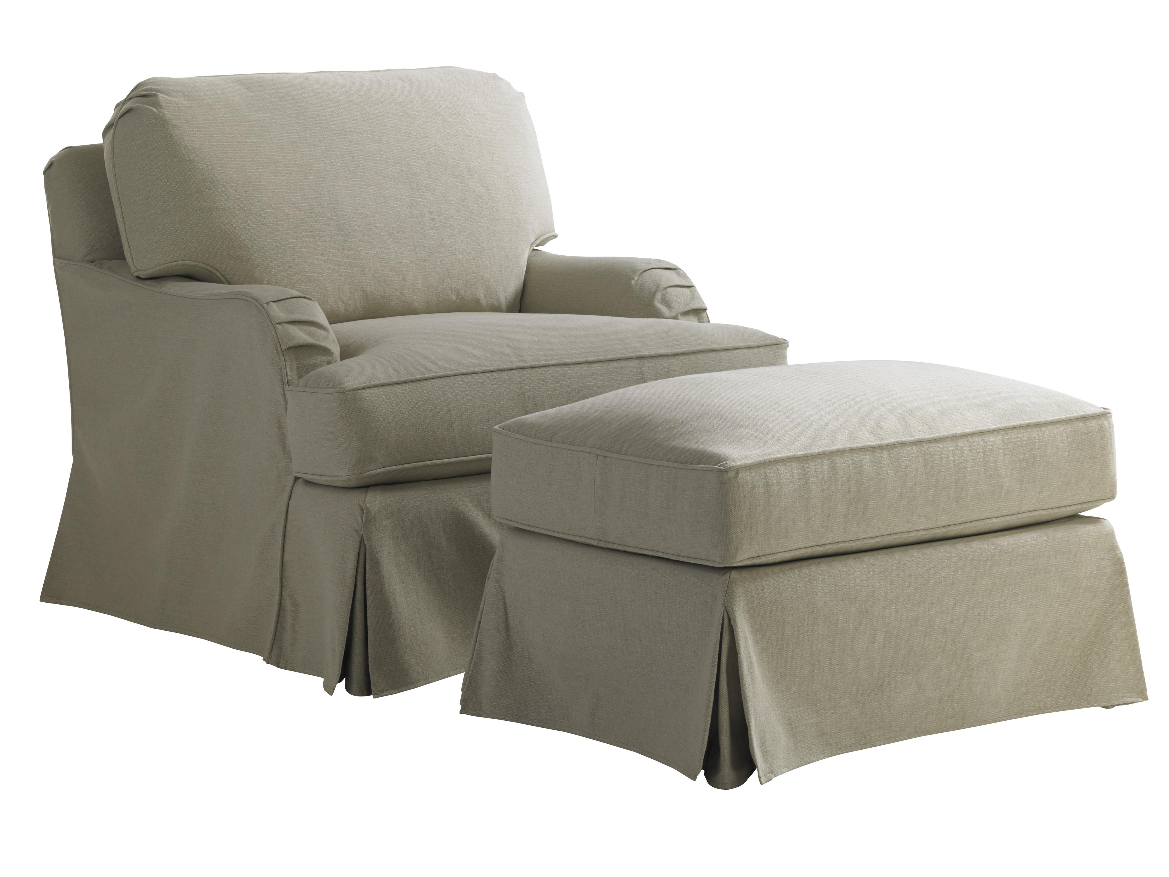 Coventry Hills Stowe Slipcover Chair and Ottoman by Lexington at Fisher Home Furnishings