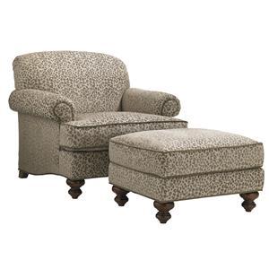 Asbury Chair and Ottoman Set