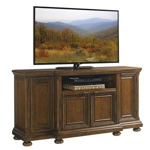 Danbury Media Console with Wire Management Grommets