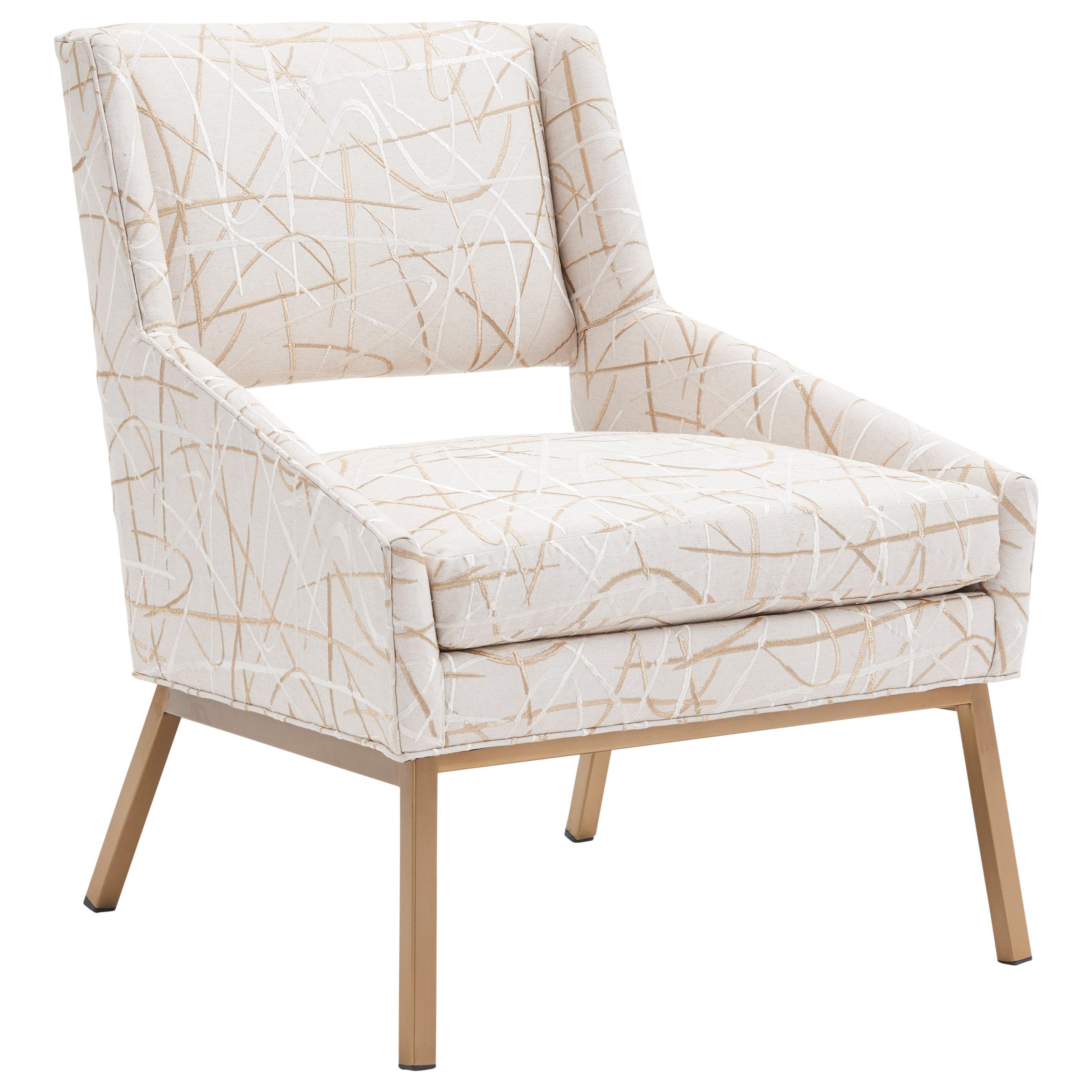 Kitano Amani Chair w/ Brass Base by Lexington at Johnny Janosik