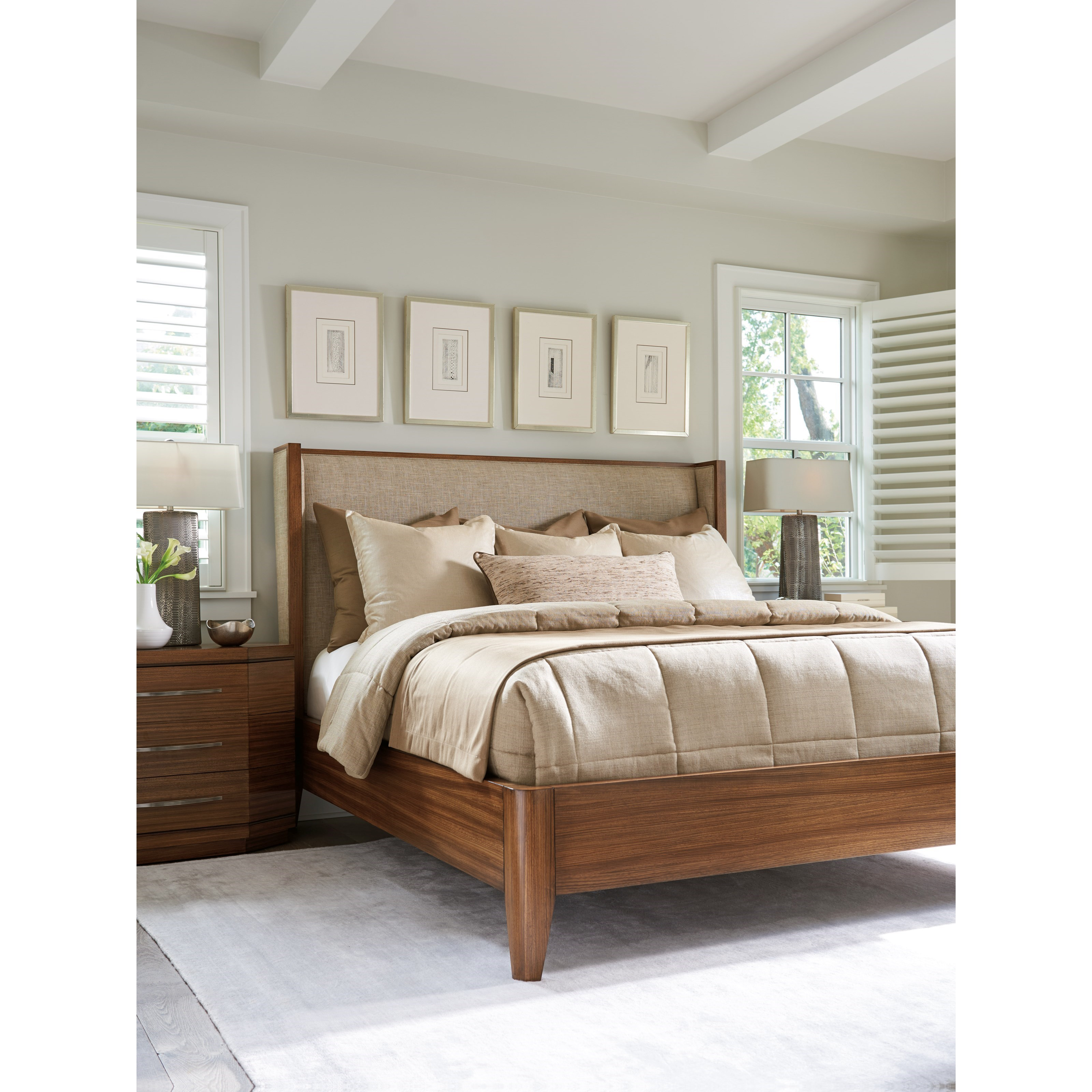 Kitano Queen Bedroom Group by Lexington at Johnny Janosik