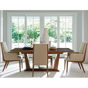 Five Piece Dining Set with Caldera Table