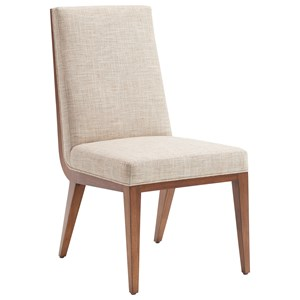 Marino Upholstered Side Chair in Medford Cream Fabric