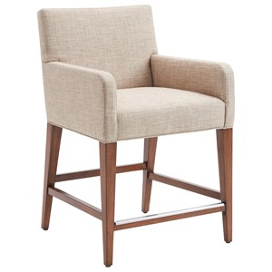 Perry Counter Stool in Medford Cream Fabric