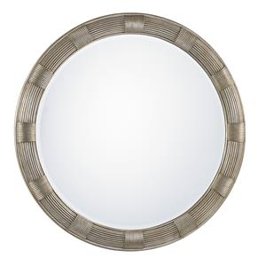 Beverly Round Mirror with Hand-Burnsihed Silver Leaf Finish