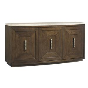 Mariposa Buffet with Silverware Storage and Travertine Top