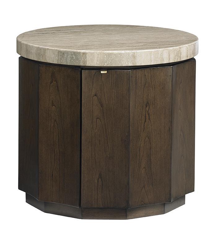 LAUREL CANYON Glendora Drum Table by Lexington at Baer's Furniture