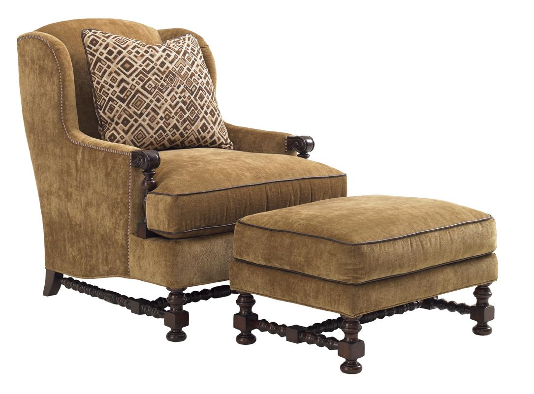 Upholstery Bradbury Chair and Ottoman by Lexington at Baer's Furniture
