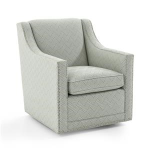 Barrier Swivel Chair with Nailhead Trim