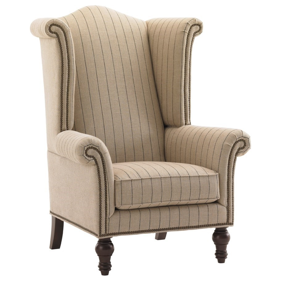 Lexington Upholstery Customizable Kings Row Wing Chair by Lexington at Jacksonville Furniture Mart