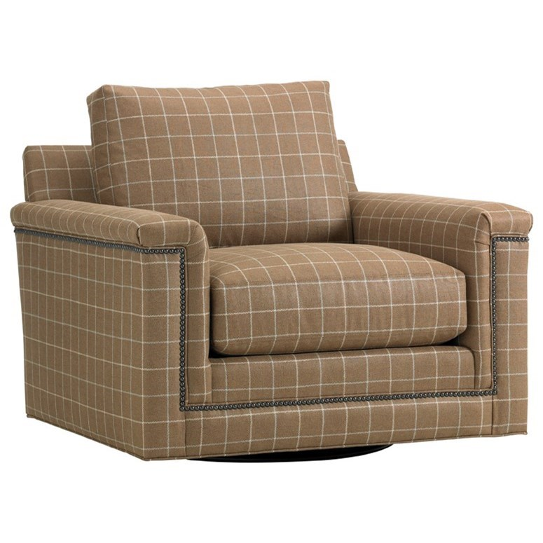 Upholstery Balance Swivel Chair by Lexington at Baer's Furniture