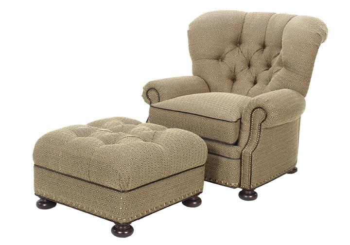 Lexington Upholstery Elle Chair and Ottoman by Lexington at Jacksonville Furniture Mart