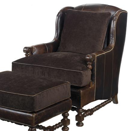 Leather Bradbury Chair by Lexington at Baer's Furniture