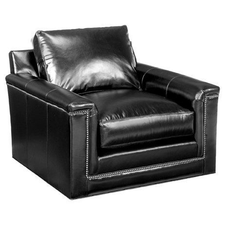 Leather Balance Swivel Chair by Lexington at Baer's Furniture