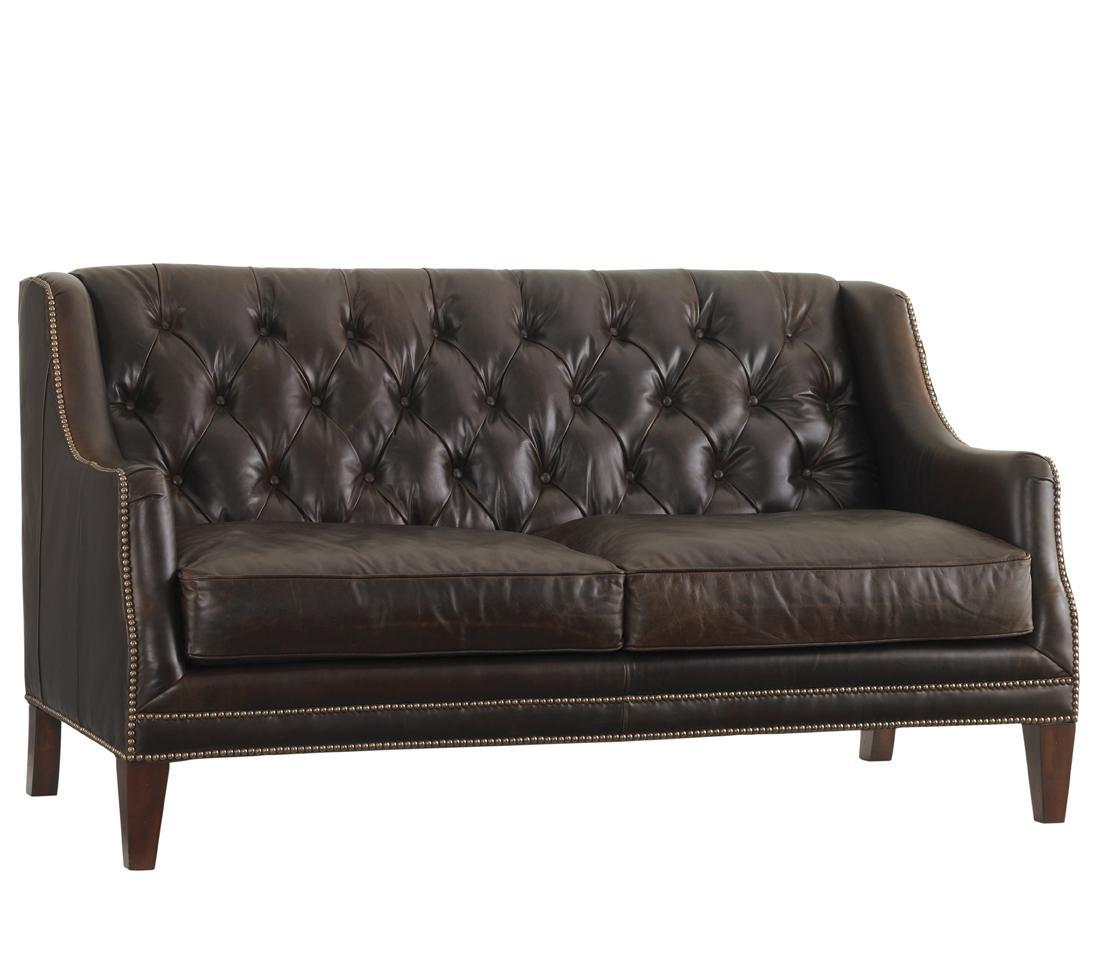 Leather Sloane Settee by Lexington at Baer's Furniture