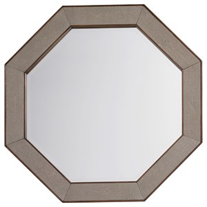 Riva Octagonal Mirror with Faux Shagreen Frame