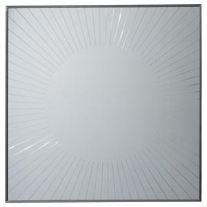 Calliope Square Plate Mirror with Sunburst Groove Design