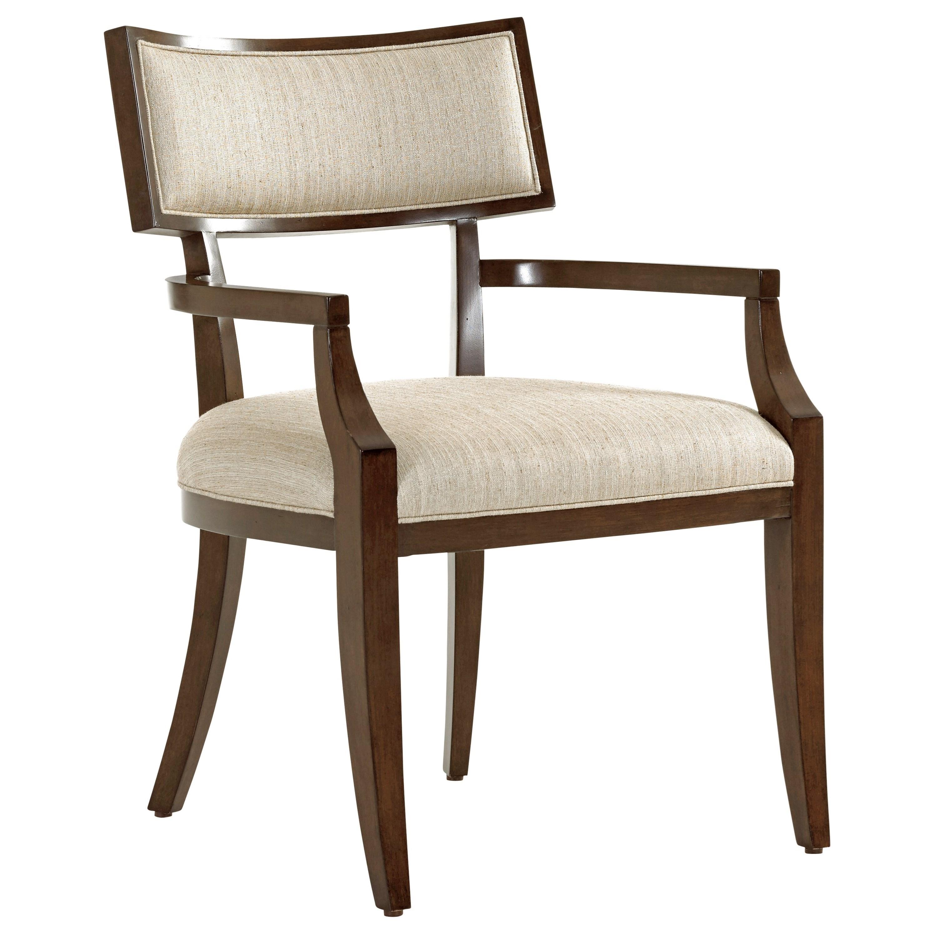 MacArthur Park Whittier Arm Chair in Wheat Fabric by Lexington at Johnny Janosik