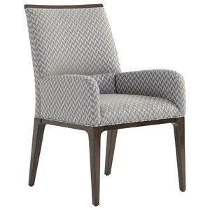Collina Upholstered Arm Chair in Custom Fabric