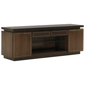 Highview Media Console with Floating Top and Wire Management