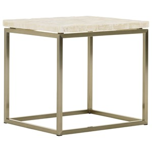 Marisol End Table with White Veracruz Stone Top
