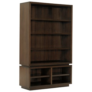 Thurston Bunching Bookcase with TV/Media Storage and Adjustable Shelving