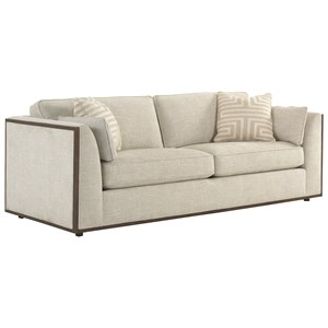 Westcliffe Sofa with Exposed Wood Trim