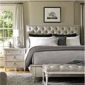 Sag Harbor Queen Bed with Button Tufting and Nailheads