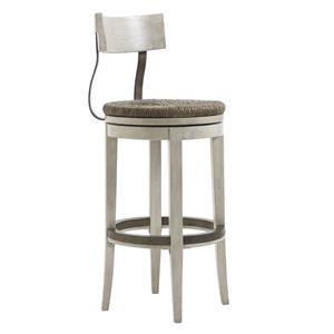 Merrick Swivel Bar Stool with Rush Seat
