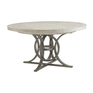 Calerton Round Dining Table with Extension Leaf