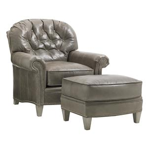 Lexington Oyster Bay Bayville Chair & Ottoman Set