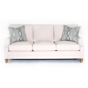 Bristol Customizable Sofa (Scoop Arm, Boxed Edge Back, Tall Tapered Leg)