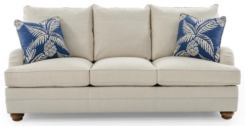Tanner Customizable Sofa (3 Cushions, English Arms, Bed Pillow Backs, Bun Feet)