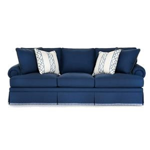 Townsend Customizable Sofa (Rolled Panel Arms, Boxed Edge Back, Kick Pleat Skirt)