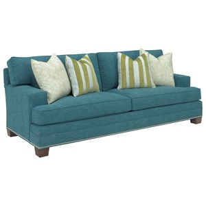 Townsend Customizable Sofa (2 Cushions, 9 inch Track Arm, Boxed Edged Back, Large Tapered Leg)