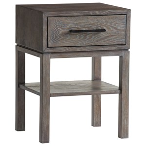 Armiston 1 Drawer Night Table with 1 Open Shelf
