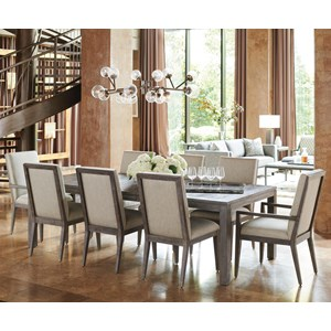 Nine Piece Dining Set with Marin Table
