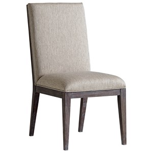 Bodega Upholstered Side Chair in Finley Taupe Fabric