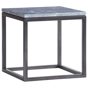Proximity Square End Table with Marble Top