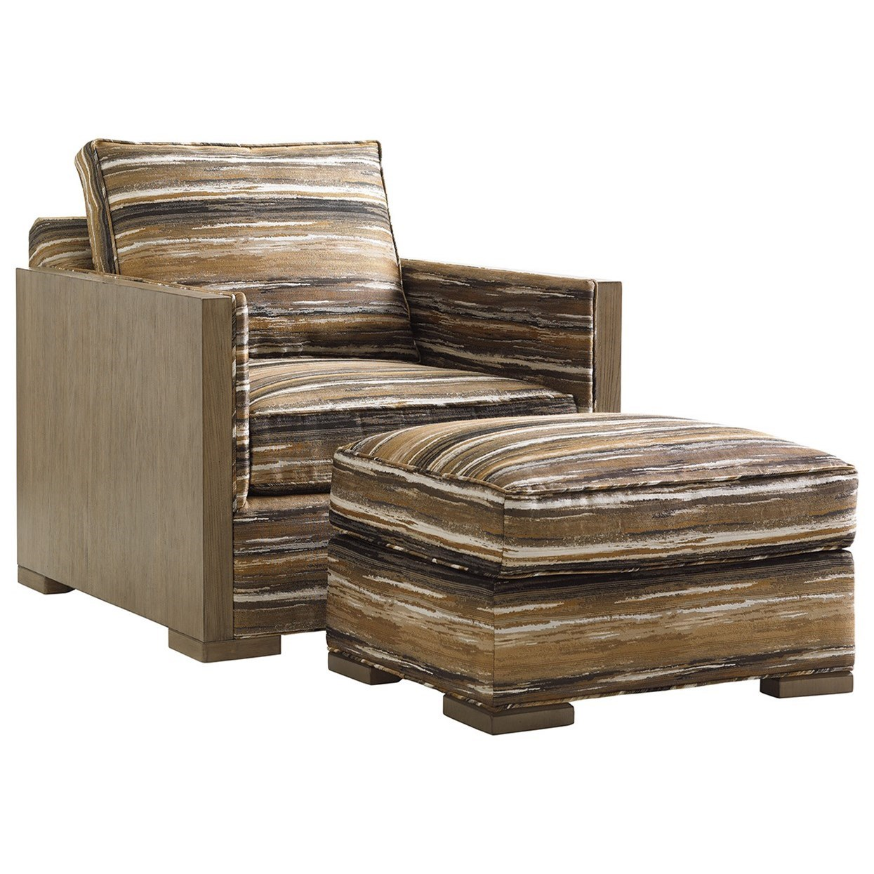 Shadow Play Delshire Chair and Ottoman Set by Lexington at Johnny Janosik