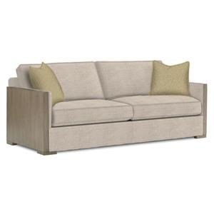 Delshire Contemporary Sofa with Exposed Wood Arms