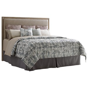Uptown California King Faux Leather Upholstered Headboard