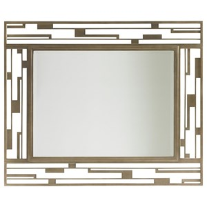 Studio Metal Mirror with Contemporary Burnished Silver Frame