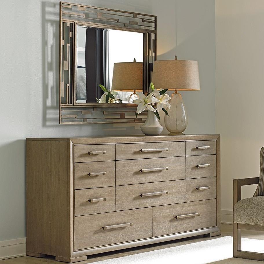 Shadow Play Soiree Dresser & Studio Mirror Set by Lexington at Baer's Furniture