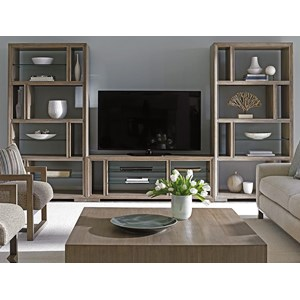 Spotlight Wall Unit with Adjustable Glass Shelving