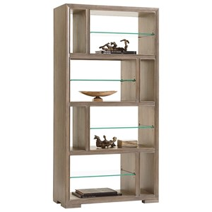 Windsor Open Bookcase with Adjustable Glass Shelves