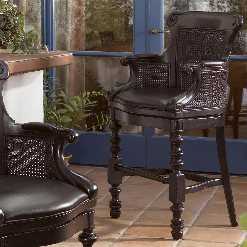 Kingstown Dunkirk Swivel Bar Stool by Tommy Bahama Home at Baer's Furniture